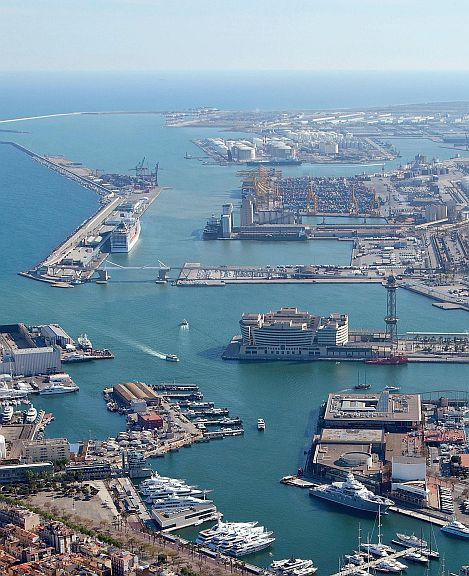 Port city of Barcelona