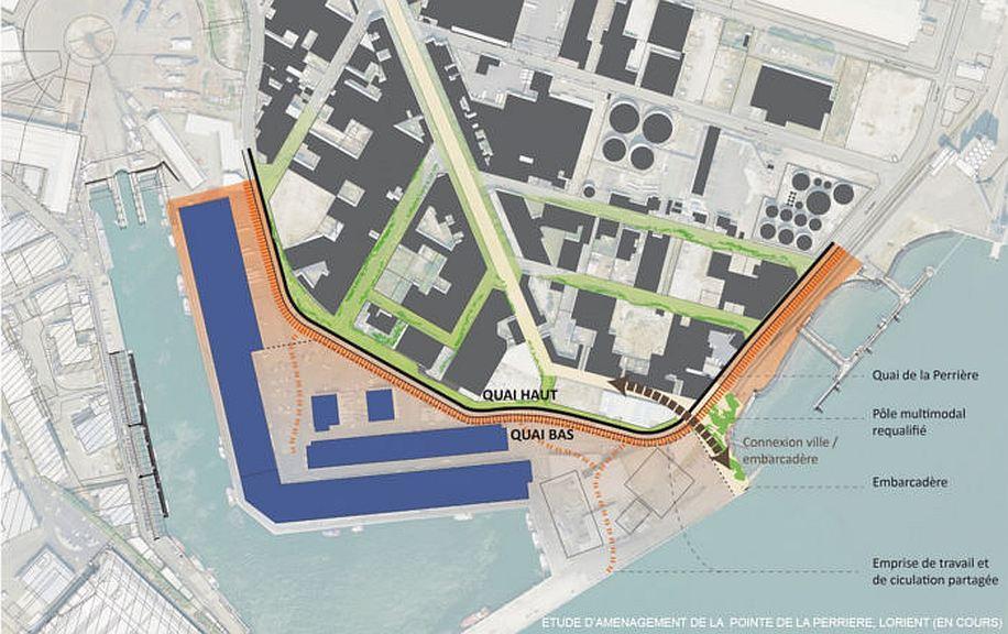 Étude d'aménagement de la Pointe de la Perrière, Lorient – Projet en cours