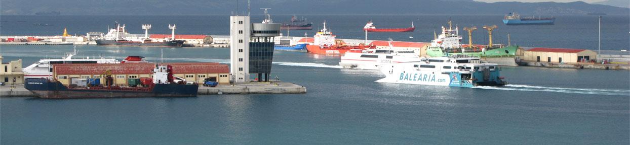 entrada del puerto de ceuta