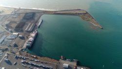 image aérienne du port d'Esmeraldas en Equateur