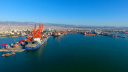 Vue du port de Mersin, Turquie
