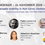 Flyer announcing the webinar on mobility on November 24, 2020