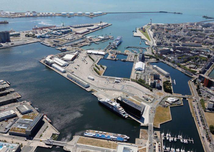 photo aérienne du quartier de la Citadelle au Havre