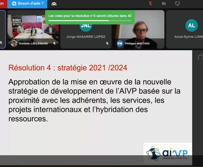 capture d'écran de l'AG virtuelle AIVP