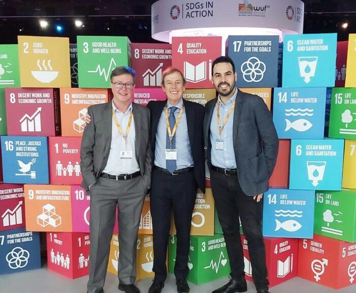 Olivier LEMAIRE, Philippe MATTHIS et José SANCHEZ au forum urbain mondial d'Abu Dhabi en 2020