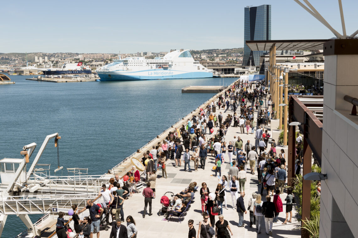Inauguration des Terrasses du port le 25 Mai 2014 à Marseille, France