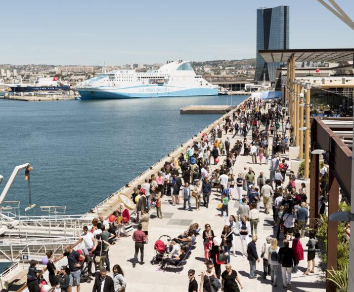 Inauguration des Terrasses du port le 25 Mai 2014 à Marseille, France