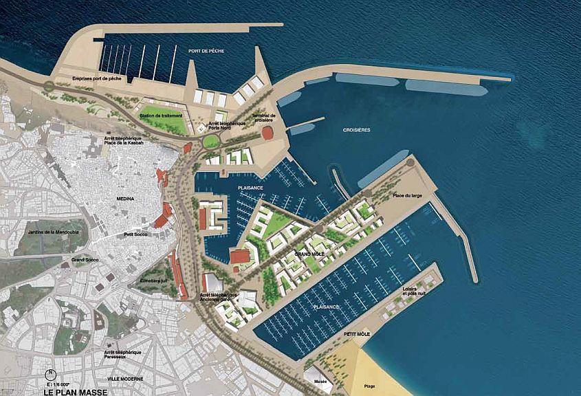 Tanger Projet Ville Port, Plan masse