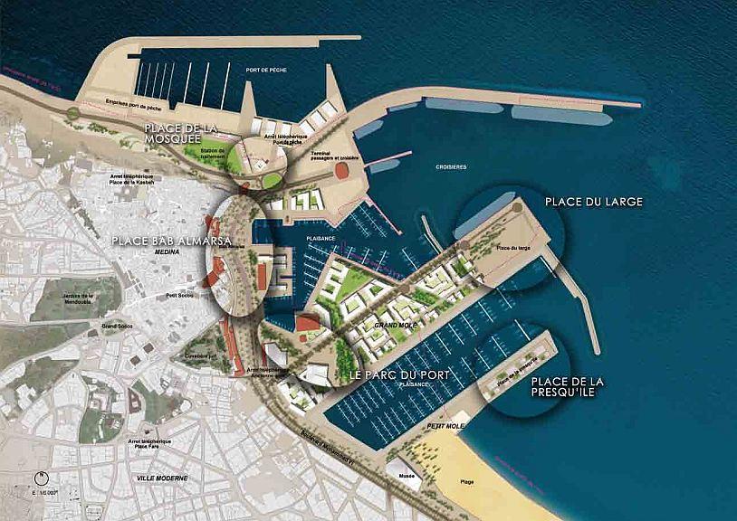 Tanger Projet Ville Port, espaces publics