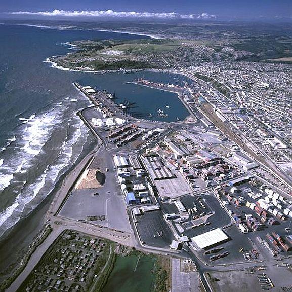 Puerto de San Antonio, aerial view