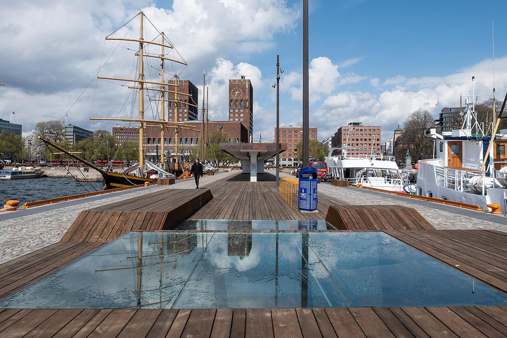 Oslo Haven. Port promenade